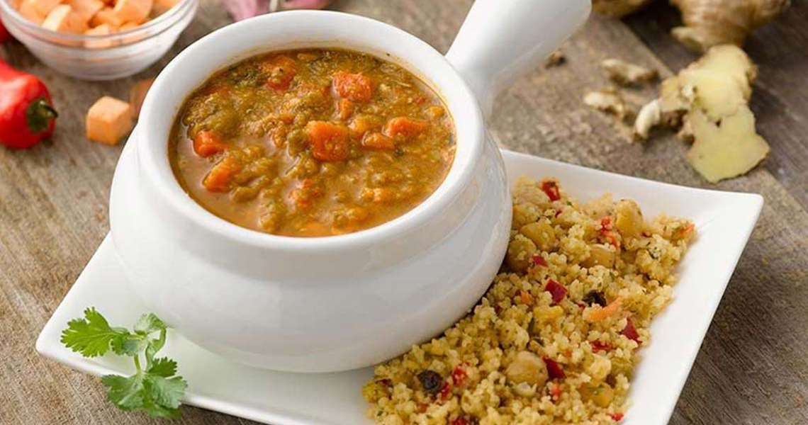 Moroccan Lentil and Sweet Potato Stew