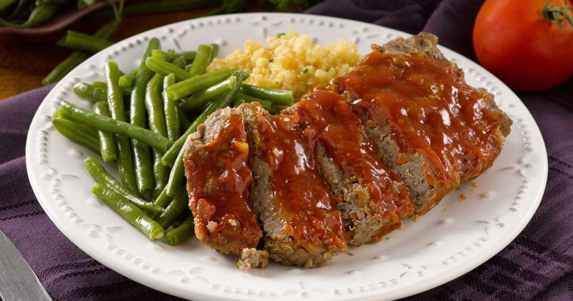 Meatloaf with Honey Bourbon Glaze