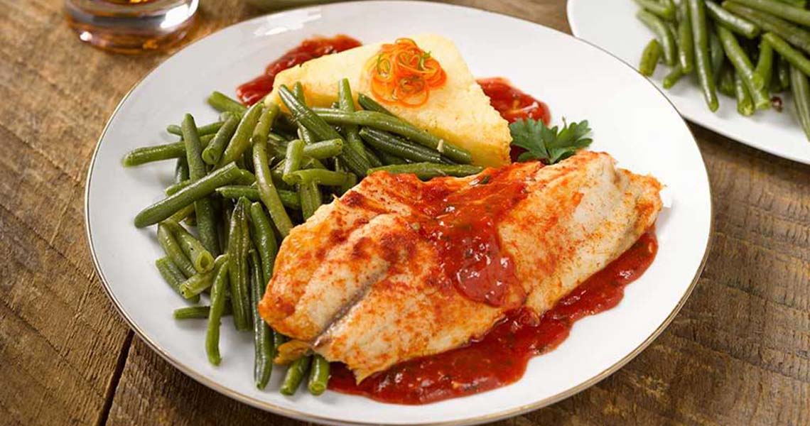Tilapia with Smoky Tomato Sauce