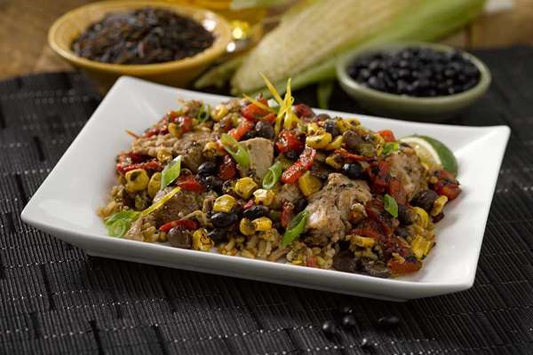 Green Chile Pork with Southwest Salsa
