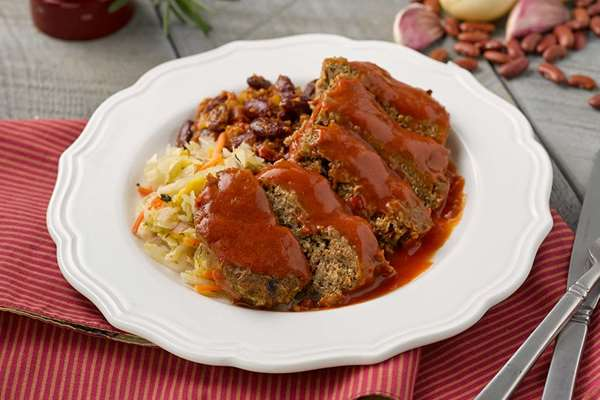 Southwest Bison Meatloaf with Smoky Tomato Glaze