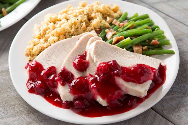 Turkey Breast with Cranberry Apple Chutney