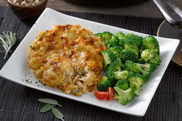 Chicken, Rice and Cheddar Casserole