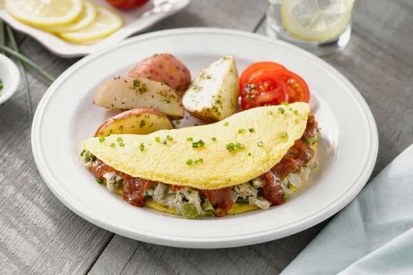 Italian Omelet with Turkey Sausage