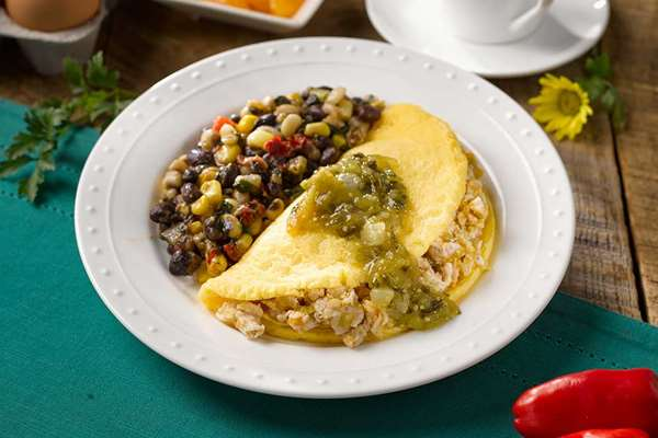 Southwestern Smoked Chicken Omelet
