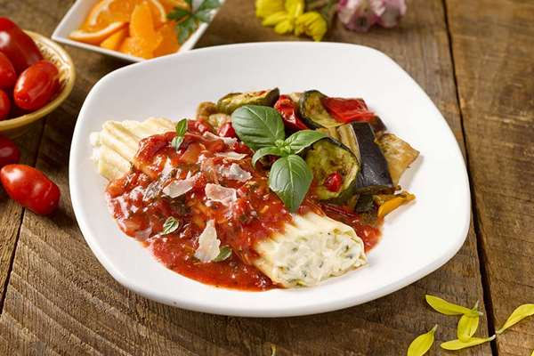 Manicotti with Vodka Marinara