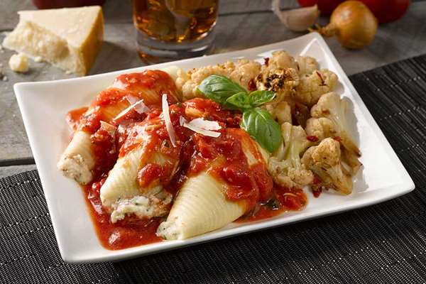 Stuffed Shells with Vodka Marinara